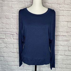 Go Couture Cold Shoulder Long Sleeve Top